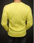 Žltá hladká pánska mikina