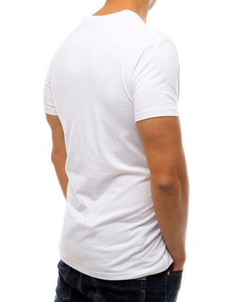 Biele pánske tričko s potlačou