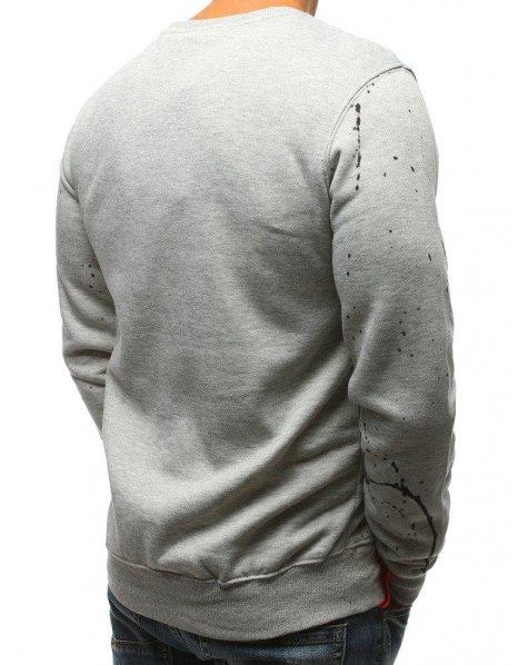 Mikina pánska s kapucňou šedá