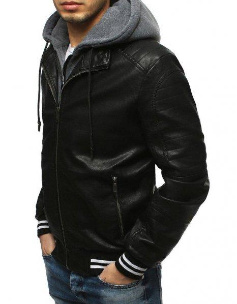 Pánska čierna bunda
