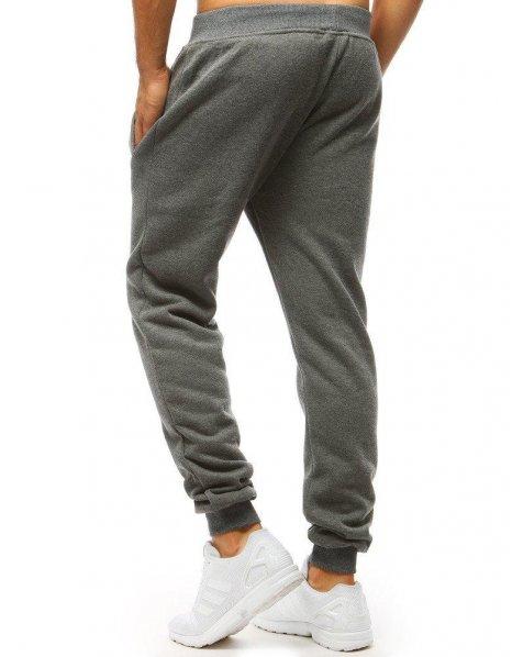 Antracitové pánske teplákové nohavice