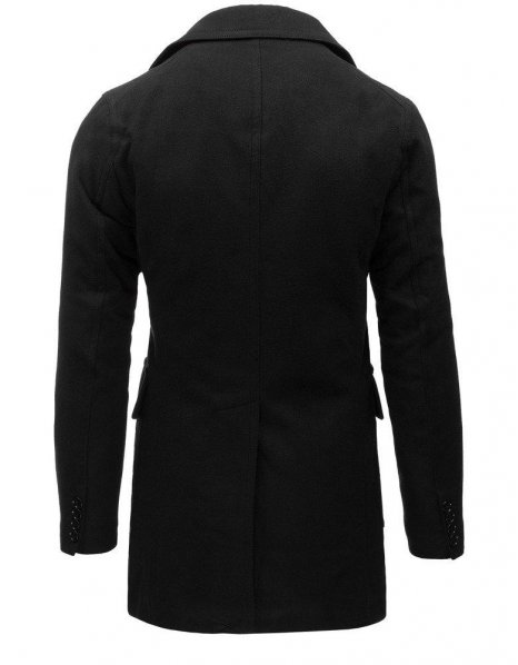 Pánsky zimný čierny kabát