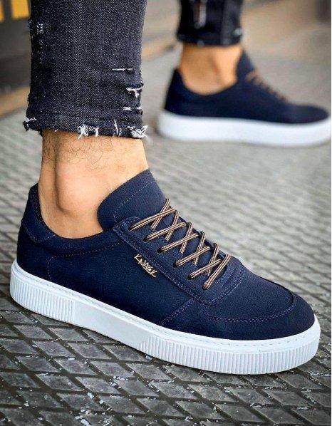 Tmavo-modré pánske tenisky