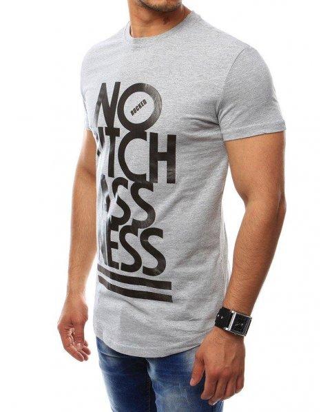Pánske tričko s potlačou šedé