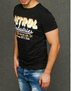 Čierne pánske tričko s potlačou