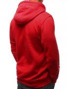 Pánska červená mikina s kapucňou