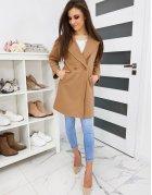 Hnedý dámsky kabát Sevento