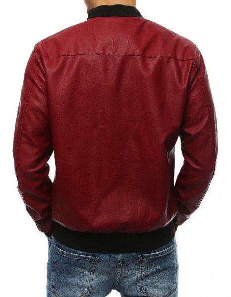 Bordová pánska kožená bunda