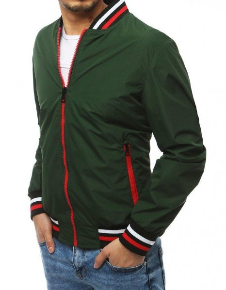 Zelená pánska prechodná bunda