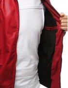 Kožená červená pánska prechodná bunda