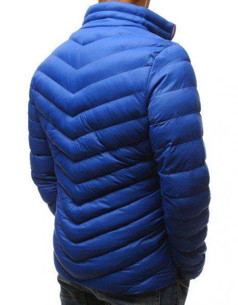 Bunda pánska zimná prešívaná modrá