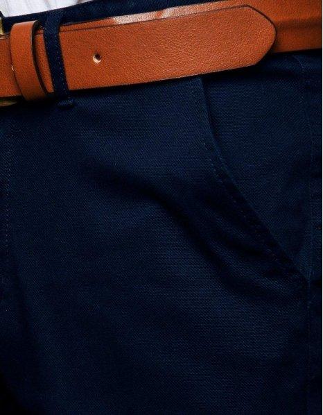 Pánske tmavomodré chinos nohavice