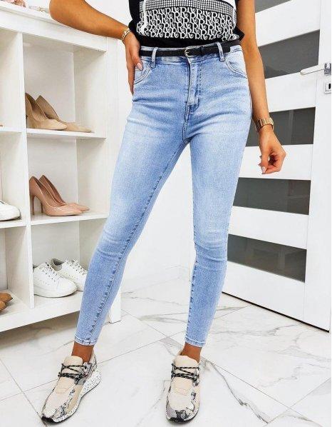 Modré dámske džínsy Skinny Fit Lensa