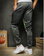 Spodnie męskie dresowe ciemnoszar