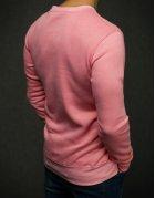 Ružová hladká pánska mikina
