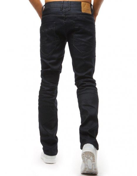Nohavice džínsové pánske tmavomodré
