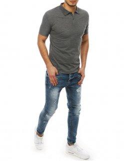 Košeľa pánska kockovaná modro-čierna