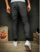 Čierne pánske teplákové nohavice