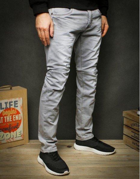 Tmavošedé pánske džínsové nohavice