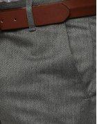 Tmavošedé pánske nohavice