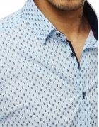 Blankytná pánska košeľa Premium s dlhým rukávom