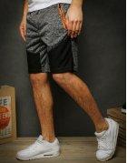 Krátke pánske tmavošedé teplákové nohavice