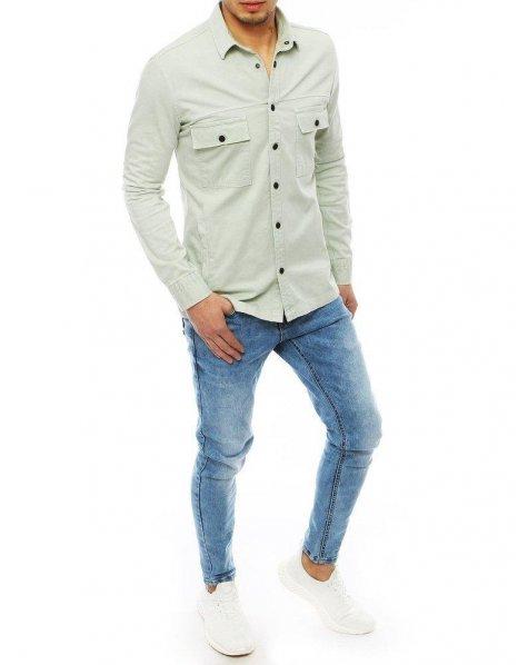 Mätová pánska džínsová košeľa