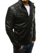 Pánska čierna koženková bunda