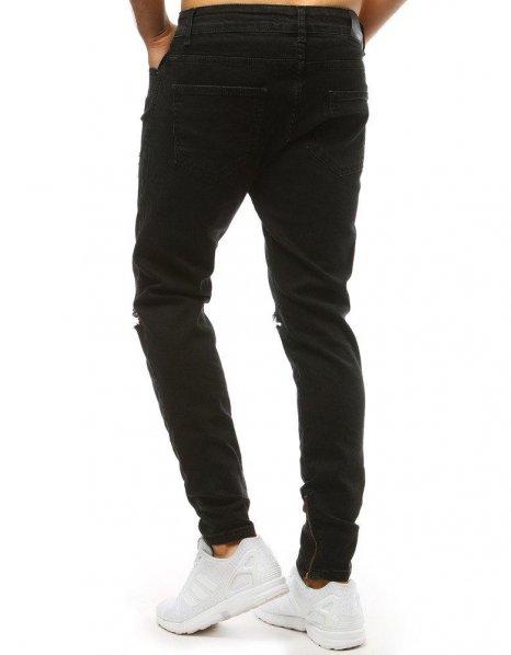 Pánsky čierne džínsové nohavice