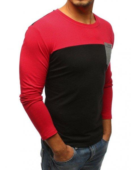 Čierne pánske tričko s dlhými rukávmi