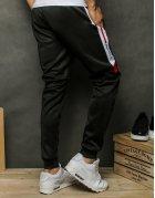 Pánske čierne teplákové nohavice
