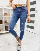 Modré dámske džínsy Skinny Fit Duale