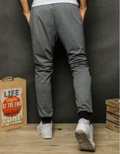 Pánske svetlošedé teplákové nohavice