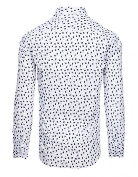 Biela pánska košeľa so vzorom