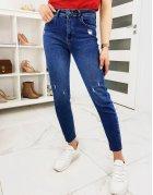 Modré dámske džínsy Skinny Regular Endo