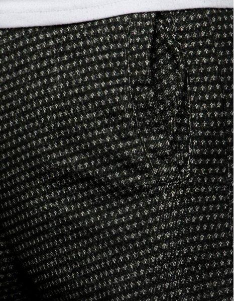 Čierne pánske teplákové kraťasy
