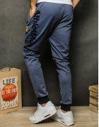 Tmavomodré pánske teplákové nohavice