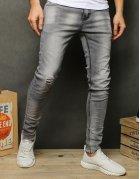Svetlošedé pánske džínsové nohavice