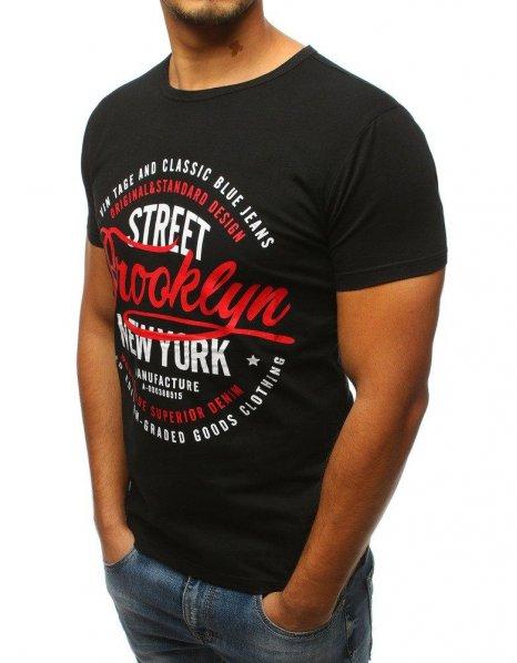 Čierne tričko pánske s potlačou