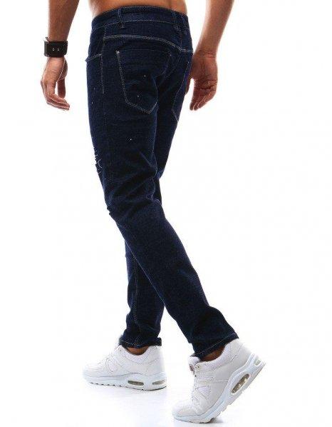 Pánske džínsové tmavomodré nohavice