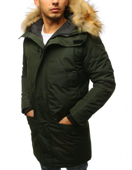 Zelená pánska zimná bunda