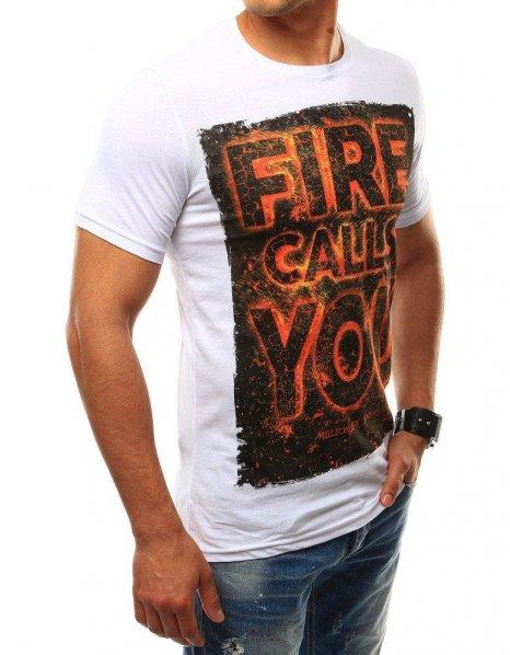 Pánske tričko s potlačou biele