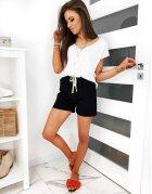Čierne dámske šortky Capi