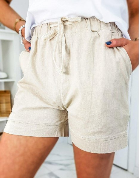 Béžové dámske šortky Capi