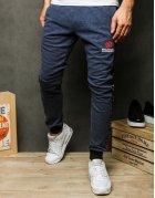 Tmavo-modré pánske teplákové nohavice