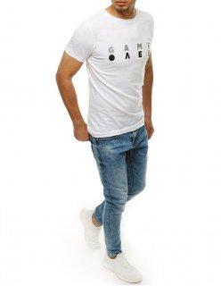 Biele pánske tričko s potlačou Knowledge