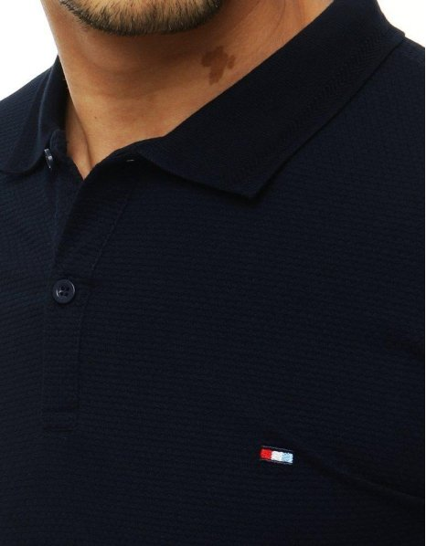 Tmavomodrá pánska Polo košeľa