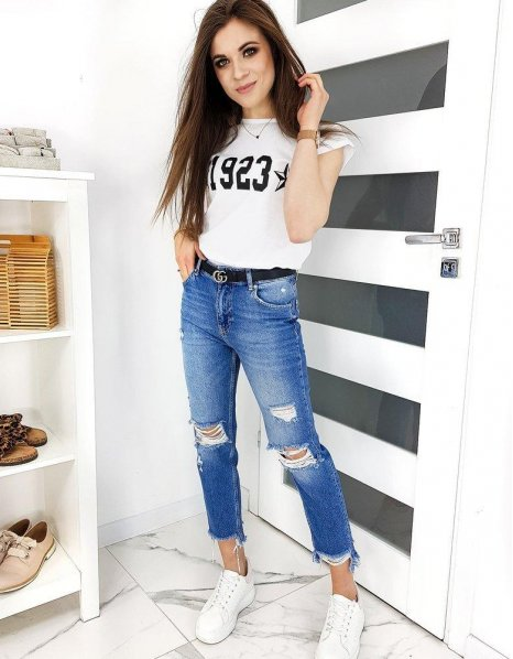 Biele tričko Number