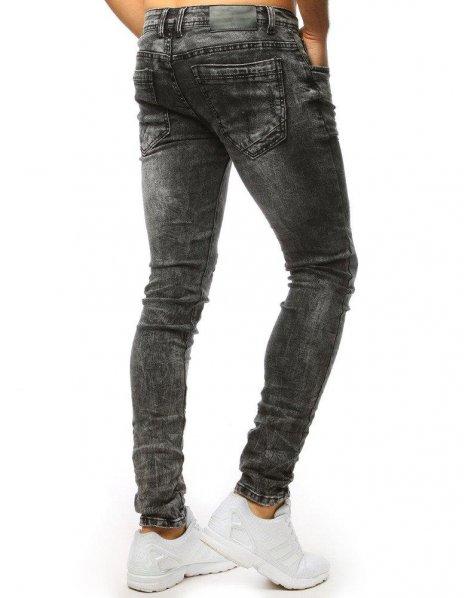 Džínsové nohavice pánske grafitové