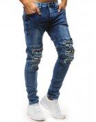 Džínsové nohavice pánske modré